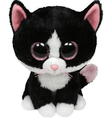 "Pinky Eye Cat 6"" Ty Beanie Boos Puppy Glitter Big Eyes Plush Stuffed Animals Toy"