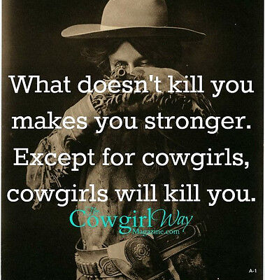 """Funny Cowgirl  refrigerator magnet 3  1/2 """"X 3  1/2 """""""