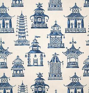 p kaufmann ming pagoda zephyr home decor fabric asian print fabric by the yard - Home Decor Fabrics By The Yard