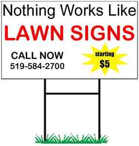 24 Lawn Signs for $100 Kitchener / Waterloo Kitchener Area image 1