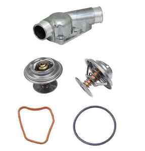 BMW E34 E36 Aluminum Thermostat Housing Kit M50 M52 S50 S52 w/Thermostat + Seals