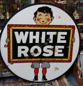 White Rose Double Sided Sign