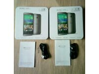 2×HTC One M8 empty box with accessories and 2×M7 empty boxes without accessories