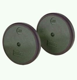 Men's Health Cast Iron Weight Plate 2 x 20kg (brand New) RRP £89.99
