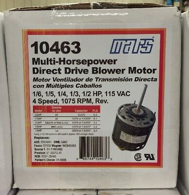 Mars 16-12 1075rpm Multi-hp Blower Motor 115v 10463