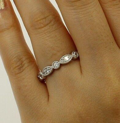 1.50 Ct 14K White Gold Round Fancy Eternity Wedding Anniversary Bridal Ring Band Fancy Eternity Band