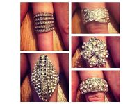 Ladies set of 5 rings - £2.50 each or all five for £10