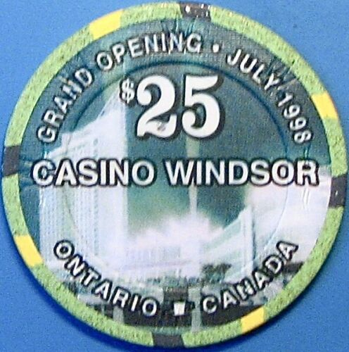 $25.00 Casino chip. Casino Windsor, Ontario, CAN. N53.