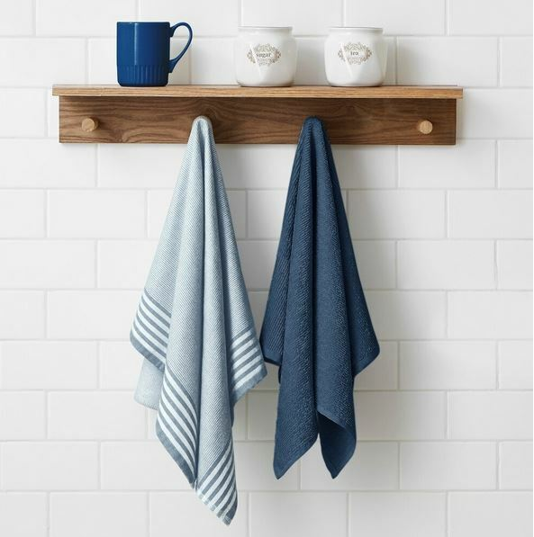 2 Piece Woven and Terry Dish Towel Set Home & Garden