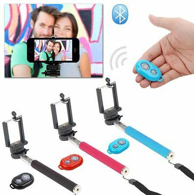 Verde Monopiede Selfie Stick & Bluetooth Telecomando Wireless Porta Cellulare