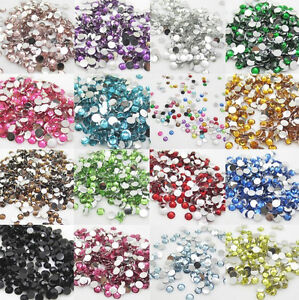 Diy-800pcs-4mm-Facets-Resin-Rhinestone-Gems-Flat-Back-Crystal-beads-U-Pick-NEW