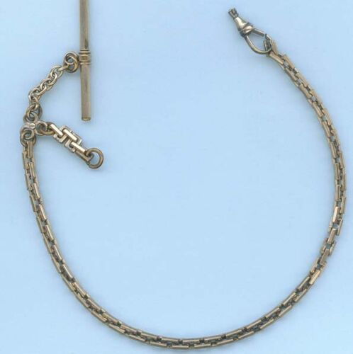 SUBSTANTIAL FOB CHAIN ~ THICK RECTANGULAR LINKS ~ ANTIQUE