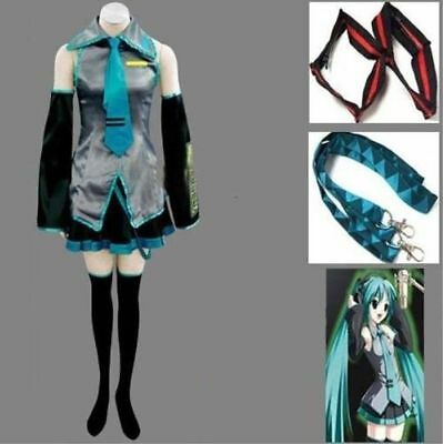 Hot sale! Vocaloid Hatsune Miku Cosplay Costume Full Set ](Costumes Sales)