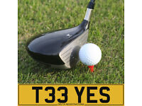 T33 YES – Golfer's Number Plate - YES, it's TEE Time Again! - Perfect Gift for The Keen Golfer