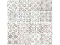 DECORATIVE 20X20cm vintage tiles lot of 5 square metres