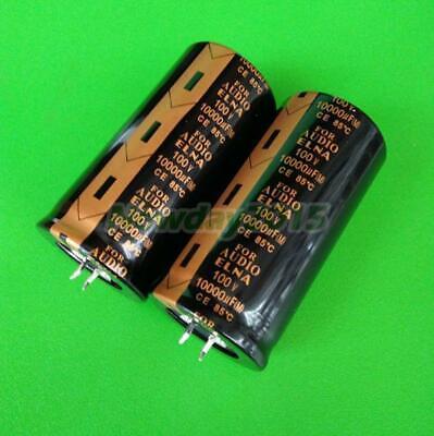2pcs Elna For Audio Electrolytic Capacitor 100v 10000uf Ce 85 35x70mm