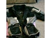 Motorbike padded outfit and under clothing size 46