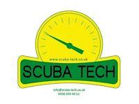 Scuba diving equipment servicing and repairs, air fills, nitrox, trimix