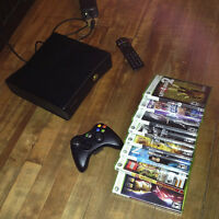 Mint Xbox 360 Slim with 9 games built in WIFI
