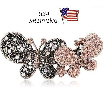 PRETTY PONYTAIL HAIR HOLDER BRAID FASHION CUTE STYLISH BUTTERFLY BARRETTE - for sale  Shipping to India