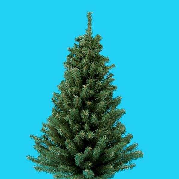 Miniature 24 Inch Artificial Christmas Pine Tree with Round Wooden Base