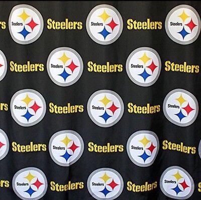 Pittsburgh Steelers Decorations (NFL Pittsburgh Steelers Fabric Shower Curtain 72x72 Football Fan Bath Decor)