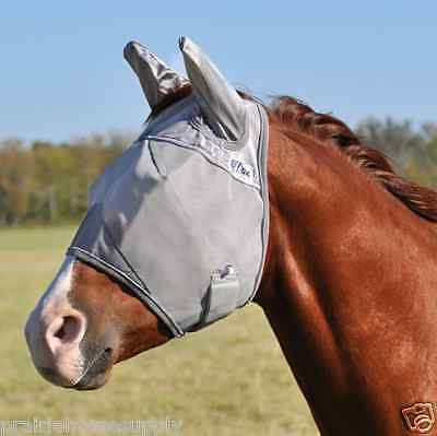 Draft Horse Fly Mask - CASHEL CRUSADER FLY MASK for DRAFT LARGE HORSE WITH COVERS EARS sun protection