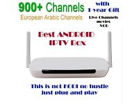 Android TV Box 4k + 1 Year IPTV Service 900 Channels VOD 100% Best Streams/Better than KODI / TV Box