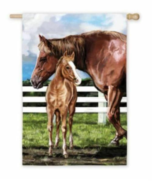 CLEARANCE...Horse Flag Precious MARE & FOAL Full-Size Outdoor Nylon Flag
