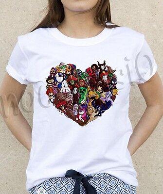 Most Popular Love Villains Character Hook Disney Marvel T Shirt Tee - Women Marvel Villains