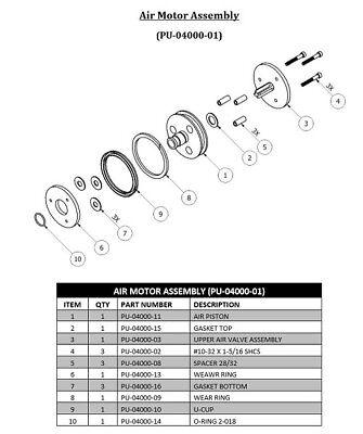 Spray Foam Equipment 21 Transfer Pump Air Motor Assembly