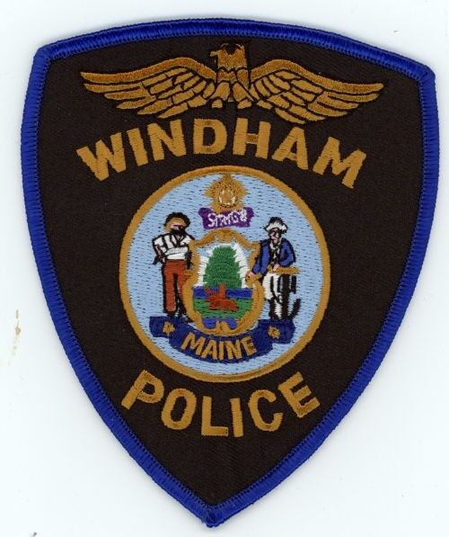 WINDHAM POLICE MAINE ME PATCH SHERIFF COLORFUL