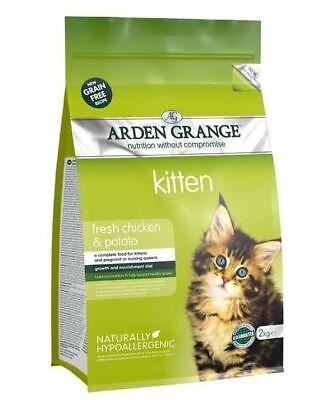 Arden Grange Hypoallergenic Fresh Chicken & Potato Adult Cat Food - 2kg
