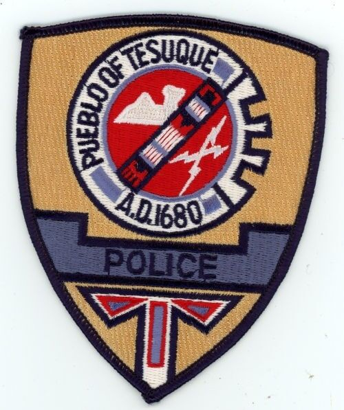 PUEBLO OF TESUQUE POLICE NEW MEXICO NM PATCH SHERIFF COLORFUL