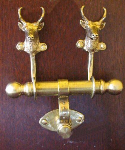 PRONGHORN ANTELOPE Bronze DUET Door Knocker