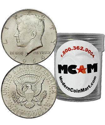 $10 Face Value Roll-20 - 1964 90% Silver Kennedy Half Dollar Avg Circ SKU32666