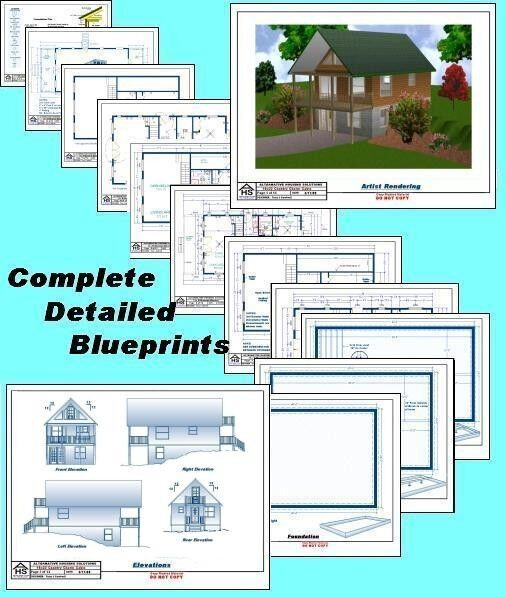 20x30 cabin w loft plans package blueprints material for 20x30 cabin blueprints