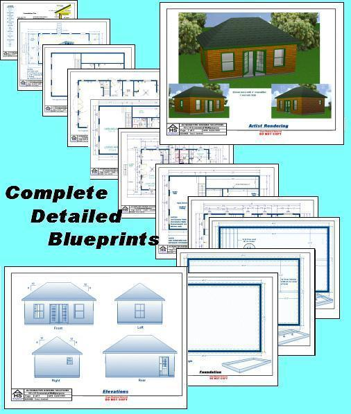 House plans for 16 x 24 cabin with front porch joy for House plans with material list