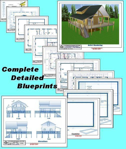 cabin plans 20x24 w loft plan package blueprints