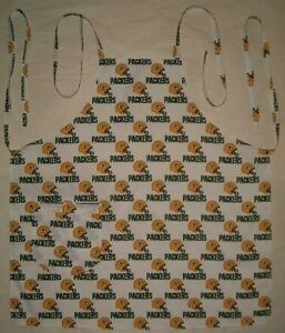 BARBEQUE-APRON-MADE-W-GREEN-BAY-PACKERS-NFL-FABRIC-NEW