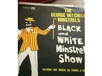 Record black and white minstel