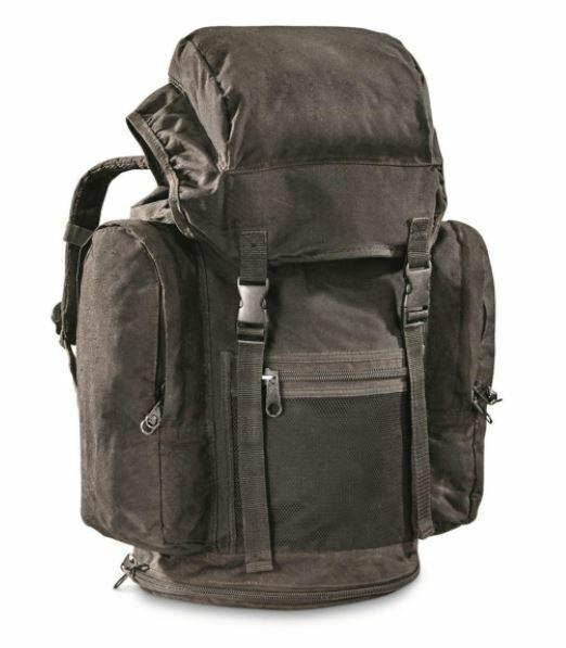 Black Bag Backpack British RAF Military Surplus Storage Transport Collect Hunt