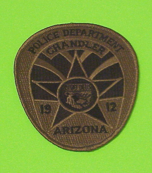 CHANDLER  ARIZONA  AZ  ( SUBDUED GREEN )   POLICE DEPT. PATCH   FREE SHIPPING!!!