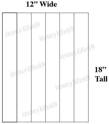 25pc White Blank 12w X 18h Coroplast 33.00 Corrugated Plastic Yard Sign