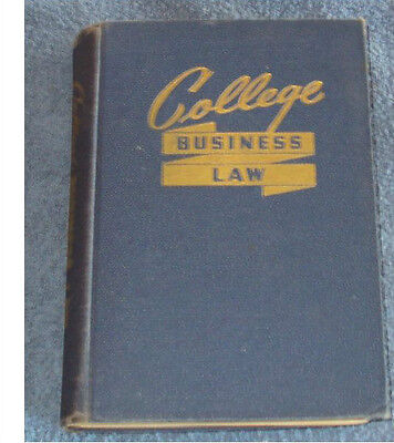 College Business Law 1951 for sale  Shipping to India