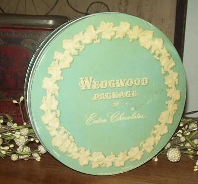 Old Advertising Candy Tin Wedgwood Package Eaton Chocolates Buffalo NY