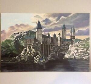 Harry Potter Hogwarts Original Acrylic Painting