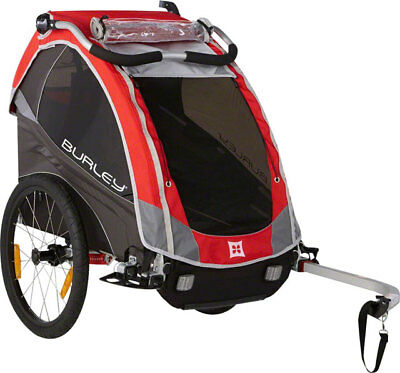 New Burley Solo Child Trailer: Red Kids Bike Trailer