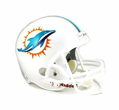 Miami Dolphins Riddell NFL Football Deluxe Full Size Helmet New in Box - Miami Dolphins Deluxe Helmet