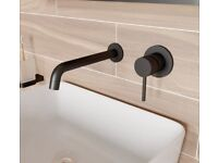 Black Tap - Mode Spencer round wall mounted black basin mixer tap